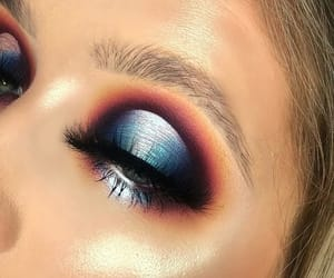 eyebrows, highlighter, and halo eyes image