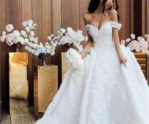 dress and wedding image