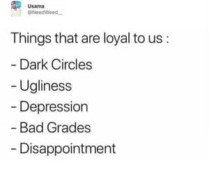 depression, sayings, and loyalty image