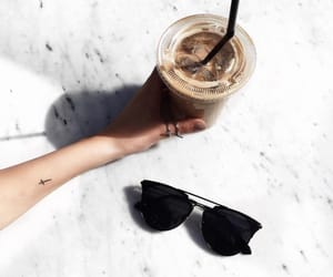 sunglasses, coffee, and drink image