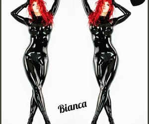 rubber, shiny, and catsuit image