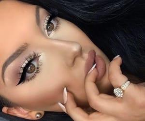 eyeliner, art, and eyebrows image
