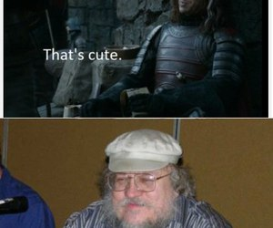 game of thrones, the hound, and grrm image