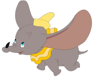 cartoon, disney, and dumbo image