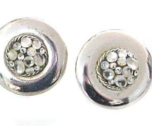 etsy, rhinestone earrings, and rhinestoneearrings image