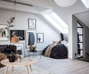 apartment, attic, and design image