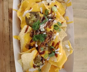 food, nachos, and mexican cuisine image