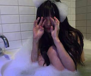girl, ulzzang, and bath image