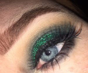 eyes, glitter, and green image