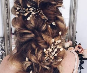 beauty, bridal, and hairstyle image