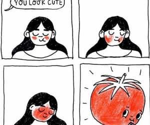 cute, tomato, and love image
