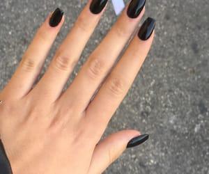 beauty, black, and black nails image