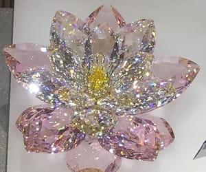 diamond, flower, and pink image