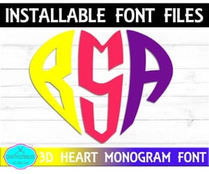 etsy, monogram fonts, and true type font image