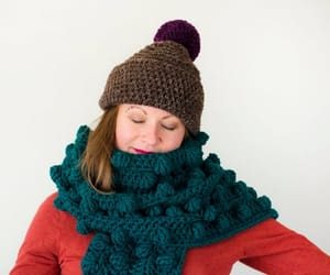 scarf, green scarf, and winter image