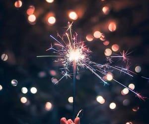 light, new year, and night image