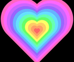 heart, png, and rainbow image