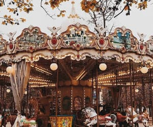 autumn, carousel, and fall image