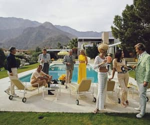 palm springs, Slim Aarons, and desert house party image
