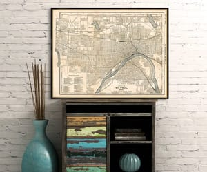 etsy, old map, and canvas map image
