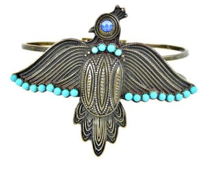 etsy, turquoise bead, and antiqued brass image