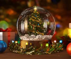 christmas, december, and snow globe image