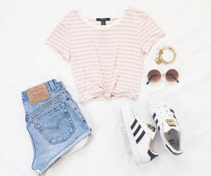 outfit and adidas shoes image