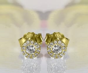 etsy, diamond earrings, and bridal accessories image