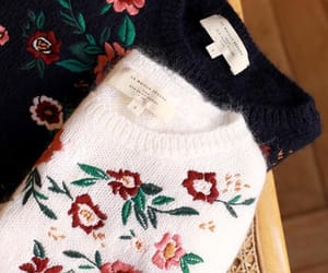 flowers, sweater, and floral embroidery image