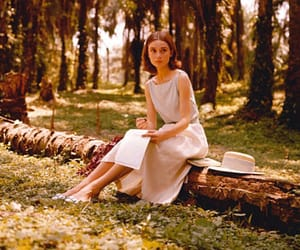 audrey hepburn, vintage, and forest image