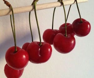 aesthetic, cherries, and red image