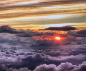 sun, clouds, and nature image