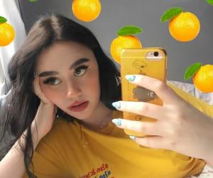 girl, yellow, and icon image