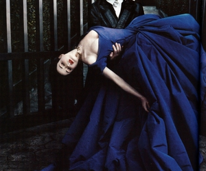 blue, bride, and gothic image