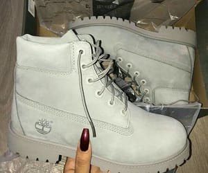 boots, grey, and timberland image