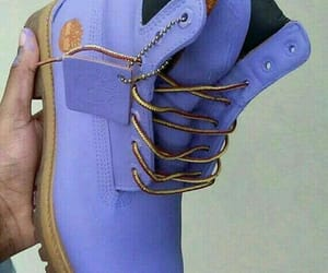 purple, timberland, and want image