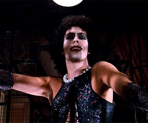 gif, Tim Curry, and The Rocky Horror Picture Show image