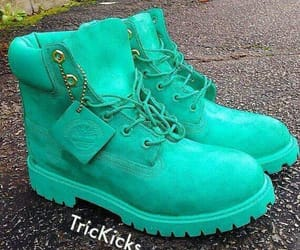 blue, teal, and timberland image