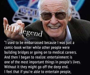 stan lee, entertainment, and Marvel image