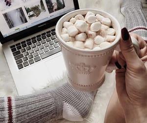 cozy, hot chocolate, and christmas image