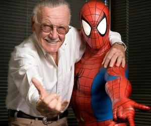 stan lee, spiderman, and Marvel image