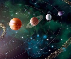 earth, mars, and moon image