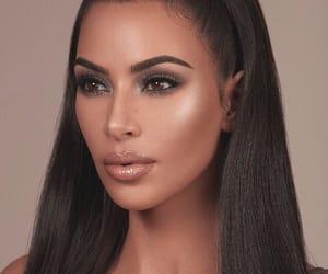 kim, kim kardashian, and makeup image