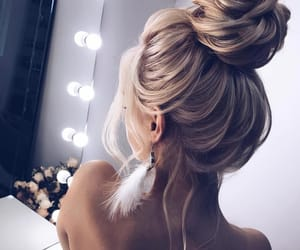 blonde, earrings, and mirror image