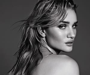 black and white, beauty, and rosie huntington whiteley image