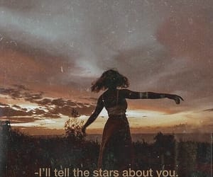 quotes, girl, and stars image