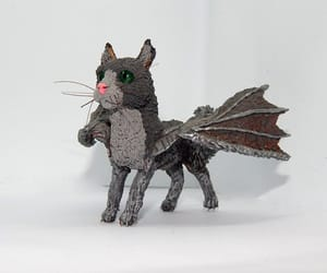 etsy, gray cat, and cat totem image