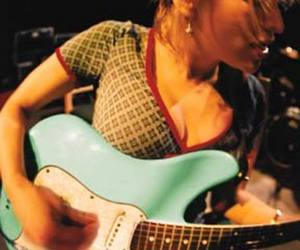 Courtney Love and guitar image