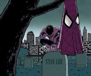 Marvel, stan lee, and spiderman image