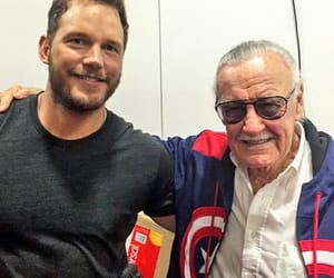 Marvel, stan lee, and chris pratt image